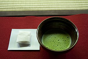 Some green tea in Nanzenji's lovely tea room.