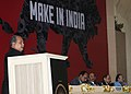 """Narendra Singh Tomar addressing at the National Workshop on """"Make in India"""", in New Delhi. The Union Minister for Finance, Corporate Affairs and Information & Broadcasting.jpg"""