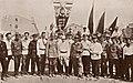 Narimanov, Yefremov, Ildyrym, Ordzhonikidze, Huseynov and Garayev in Baku in 1920.jpg