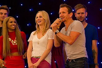 Sebastian Roché - Roché with the cast of The Vampire Diaries in June 2013
