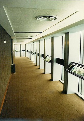 Tower 42 - The NatWest Tower's viewing gallery at Level 42, as seen in 1981.  This area is now in use as the Vertigo 42 champagne bar.
