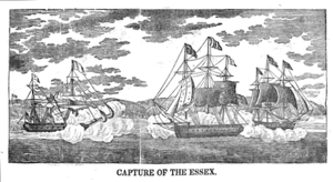 USS Essex (1799) - Engraving by Abel Bowen