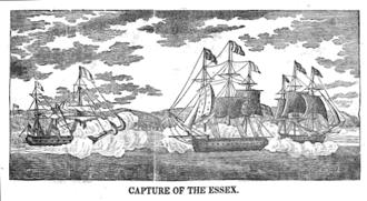 USS Essex (1799) - Engraving by Abel Bowen