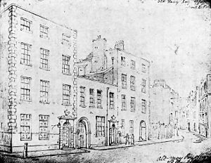 Treasurer of the Navy - Navy Treasury, Broad Street, where the Treasurer had his official residence and offices from 1664-1789