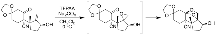 Neosporol epoxidation-rearrangement.png