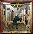 Neroccio di bartolomeo de' landi, costruzione di una chiesa (firenze, coll. gianfranco luzzetti) 01.JPG