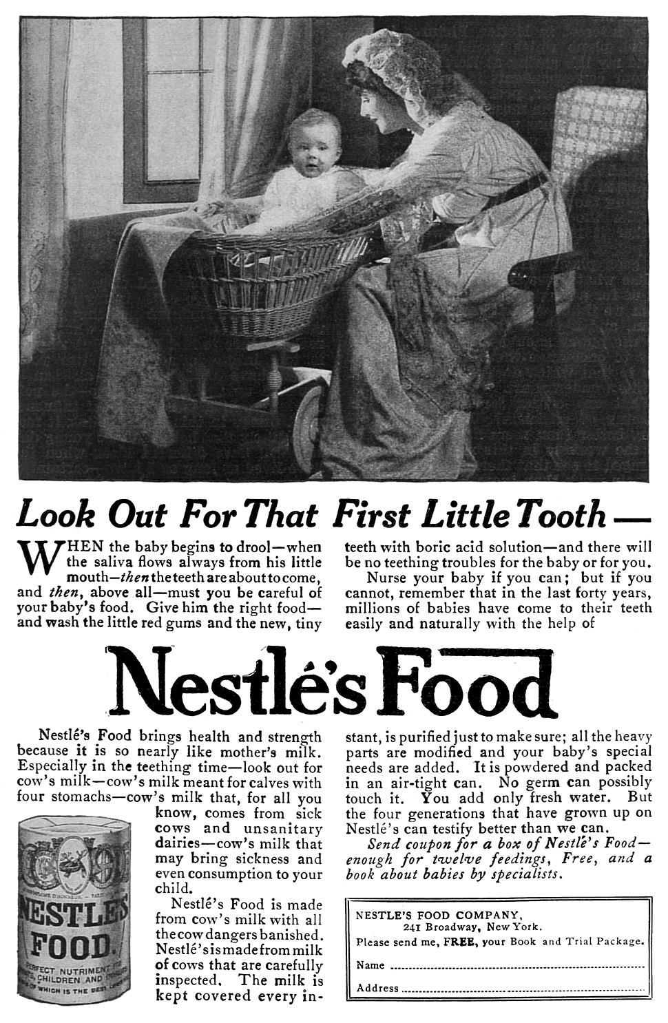 Nestl%C3%A9 Food advertisement, 1915