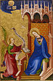 Netherlandish - Two Panels depicting the Annunciation, Baptism of Christ and Crucifixion from the Antwerp-Baltimore ... - Google Art Project.jpg
