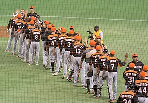 Netherlands national baseball team - Image: Netherlands national baseball team on March 8, 2013