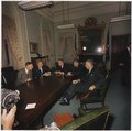 New President Lyndon B. Johnson meets with National Security advisors - NARA - 192481.tif