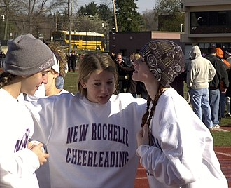 New Rochelle High School - Image: New Rochelle High School Cheerleaders 2002C