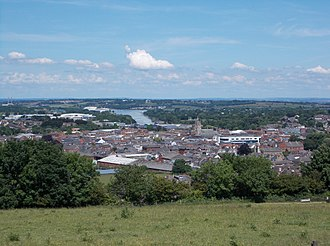 Newport, Isle of Wight - View of Newport from Mount Joy, looking north with the Medina estuary in the distance.