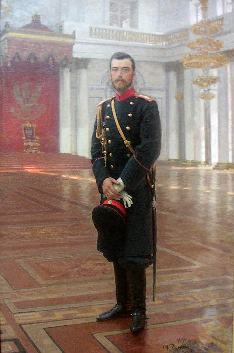Nicolas II of Russia by Iliya Repin