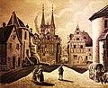 Nikolaus Schlad - Boppard, Burgplatz um 1853.jpg