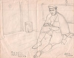 Nikolay Lanceray - Self-portrait made in 1920, while in Cheka custody at Rostov-on-Don.
