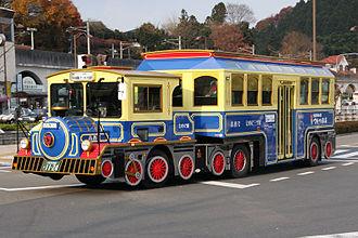 Trailer bus - A Hino Ranger Trailer bus in Japan