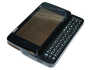 English: Nokia N900 communicator/internet tabl...