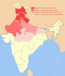 Carte Geographique De Linde Du Nord.Inde Du Nord Wikipedia