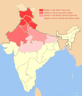 Group of Northern Indian states