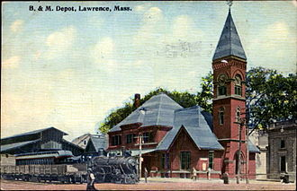 Lawrence (MBTA station) - 1879 North Lawrence station in 1915
