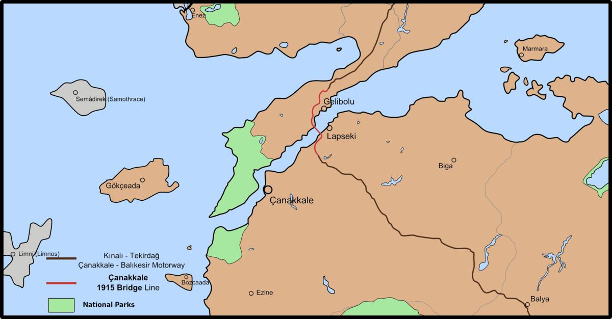 çanakkale 1915 Brücke Wikipedia