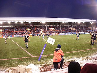 Pittodrie Stadium - The Scotland national rugby union team playing at Pittodrie in November 2008.
