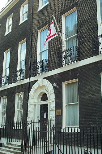 Foreign relations of Northern Cyprus - London office of the Turkish Republic of Northern Cyprus, Bedford Square.