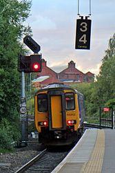 Northern Rail Class 156, 156452, Salford Crescent railway station (geograph 4500610).jpg
