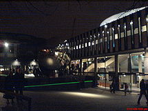 Nottingham Playhouse at night.JPG