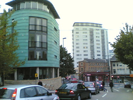 New buildings on the south side of the Lace Market area Nottinghamstreet.jpg