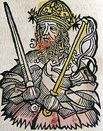 Nuremberg chronicles - Atilla, King of the Huns (CXXXVII)