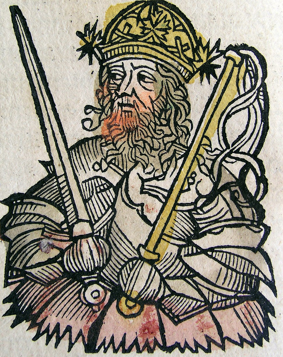 Nuremberg chronicles - Atilla, King of the Huns (CXXXVII)