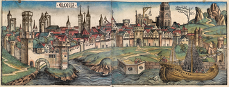 Demographics of Cologne - woodcut of Cologne from the Nuremberg Chronicle, 1493