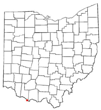 Aberdeen, Ohio - Image: OH Map doton Aberdeen