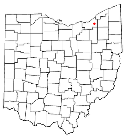 Location of Highland Hills in Ohio