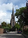 foto van Rooms-katholieke pseudobasilikale kruiskerk O.L.V. Geboorte in Neo-Gotische stijl