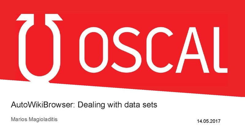 File:OSCAL '17 Workshop on AutoWikiBrowser.pdf