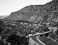 Oak Creek bridge and view of canyon- group of 75 motorhomes in caravan called the Fireballers, preparing to drive through tunnel (fda65970640a4d6c93424cc672487a40).jpg
