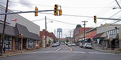 Main Street (West Virginia Route 16) in downtown Oak Hill in 2007