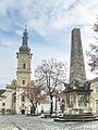 Obeliscul Carolina si Biserica franciscana.jpg