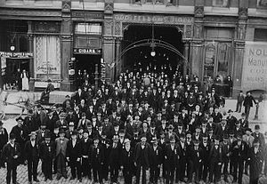 Ancient Order of United Workmen - AOUW group in front of an Odd Fellows Hall building in San Francisco, California