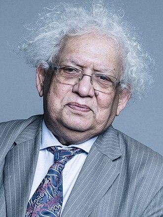Meghnad Desai, Baron Desai - Image: Official portrait of Lord Desai crop 2