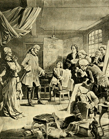 Often visited them in their studios (The Works of J. W. von Goethe, Volume 4).png