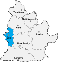 Location of Šaļas apriņķis