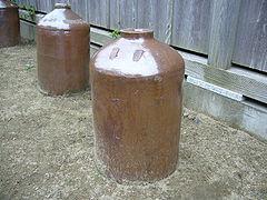 醤油の貯蔵に使われた甕