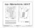 Old Fernandina Depot, 100 Atlantic Avenue, Fernandina Beach, Nassau County, FL HABS FLA,45-FERB,1- (sheet 1 of 6).png