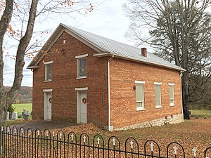 Hebron Church (Intermont, West Virginia) - Northwestern and southwestern elevations of the church