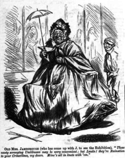 Old Mrs Jamborough. Punch, 14 June 1862