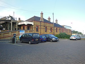 Leigh-on-Sea railway station - The original station building, now used by Leigh Sailing Club