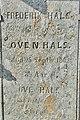 Old tombstones on display at the graveyard (kirkegård) by Sør-Fron Church (Gudbrandsdalsdomen kirke 1792) Hundorp Gubrandsdalen Norway 2017-03-23 Spring sun IMG 1966 (1).jpg